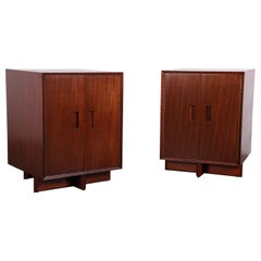 "Pair of Frank Lloyd Wright ""Taliesin"" Nightstands for Henredon"