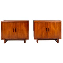 Pair of Frank Lloyd Wright Taliesin Small Cabinets