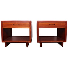 "Pair of Frank Lloyd Wright ""Taliesin"" Tables / Nightstands"