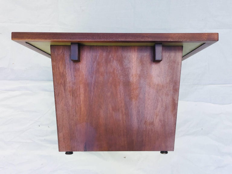 American Frank Rohloff Walnut and Black Resin Studio End Tables California 1960s For Sale