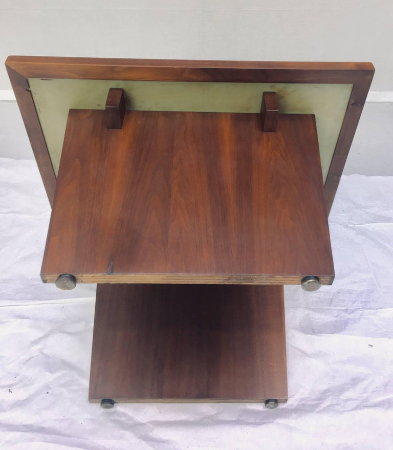 Frank Rohloff Walnut and Black Resin Studio End Tables California 1960s For Sale 1