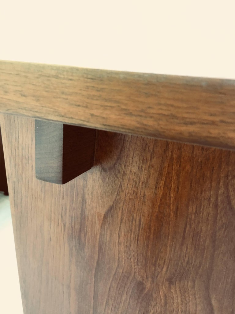 Frank Rohloff Walnut and Black Resin Studio End Tables California 1960s For Sale 2