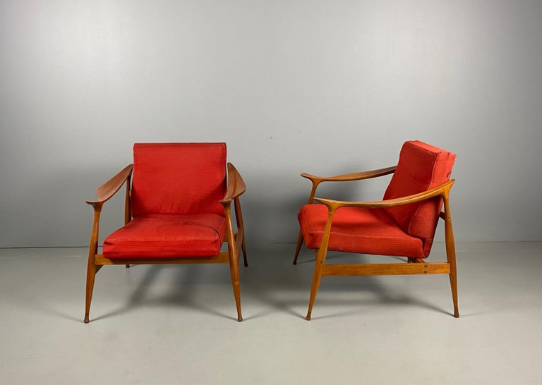 Italian Pair of Fratelli Reguitti 'Lord' Armchairs For Sale