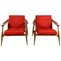 Pair of Fratelli Reguitti 'Lord' Armchairs