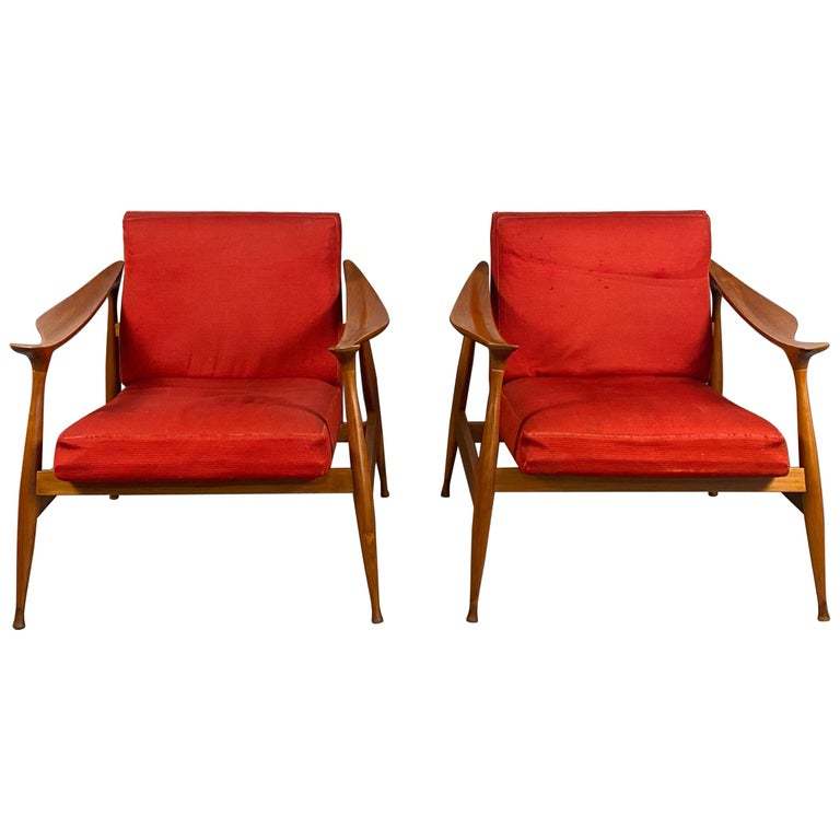 Pair of Fratelli Reguitti 'Lord' Armchairs For Sale