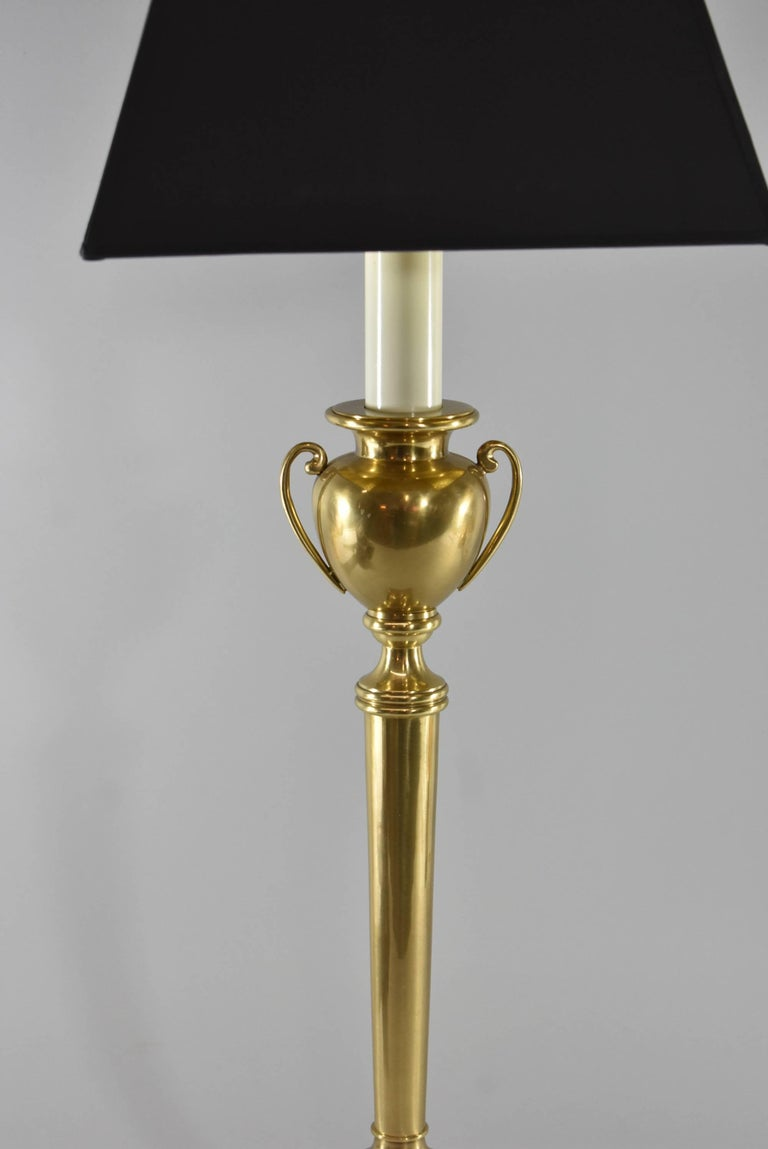 Pair of Frederick Cooper Brass Urn Form Table Lamps In Good Condition For Sale In Toledo, OH