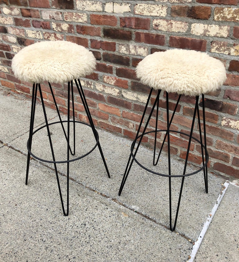 Pair of Frederick Weinberg Bar Stools In Excellent Condition For Sale In Hudson, NY