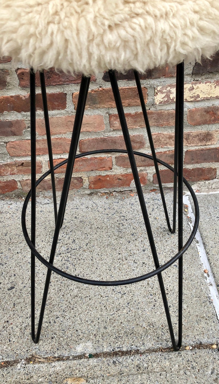 Pair of Frederick Weinberg Bar Stools For Sale 1
