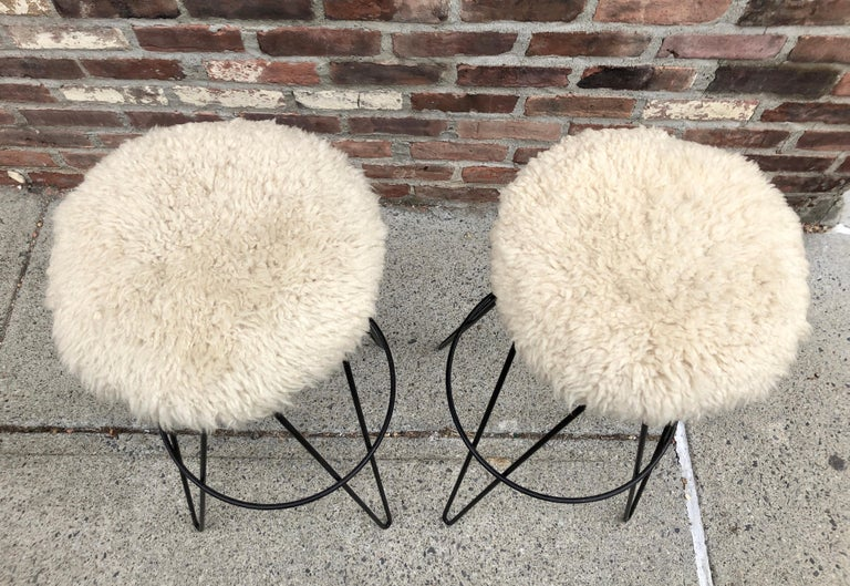 Pair of Frederick Weinberg Bar Stools For Sale 2