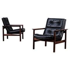 Pair of Fredrik Kayser Easy Chairs for Vatne Møbler, Norway, 1960s