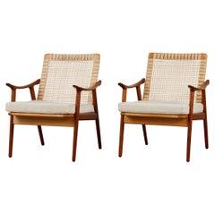 Pair of Fredrik Kayser Lounge Chairs for Vatne Møbler