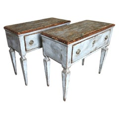 Pair of French 1 Drawer Side Tables