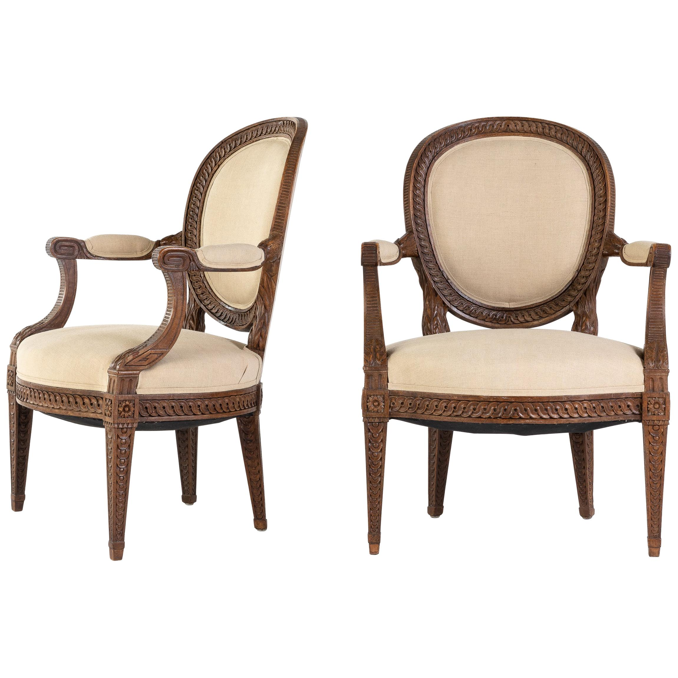 Pair of French 18th Century Armchairs