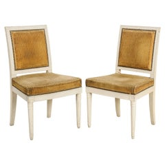 Pair of French 18th Century Directoire Painted Chairs