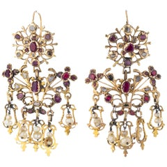 Pair of French 18th Century Gold Earrings