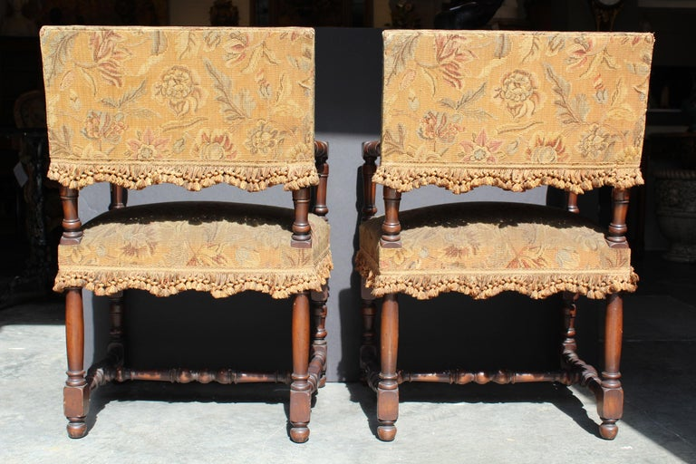 Pair of French Louis XIII Armchairs For Sale 3