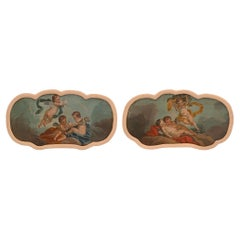 Pair of French 18th Century Oil on Canvas Paintings