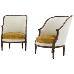 Pair of French 18th Century Walnut Armchairs