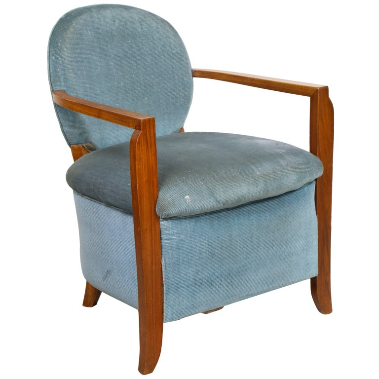 Pair of French 1940s Armchairs in the Leleu Manner