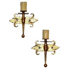 Pair of French 1940s Sconces
