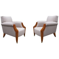 Pair of French 1940s Style Club Chairs