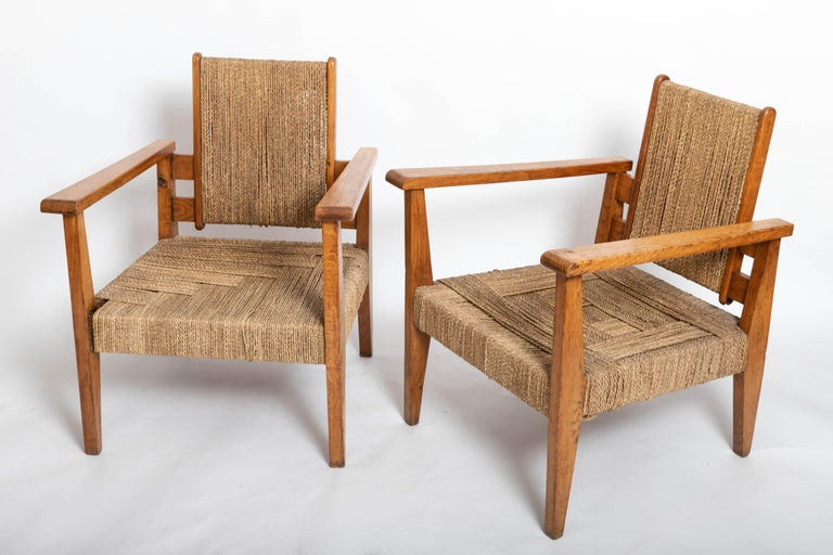 Pair of 1950s sculptural chairs.