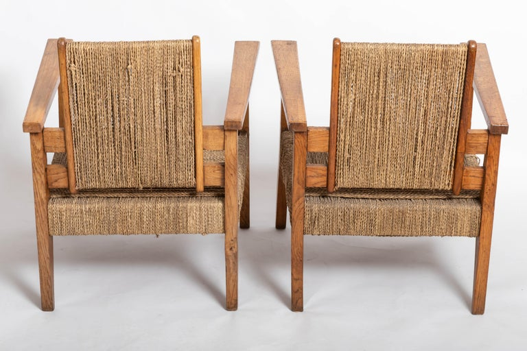 Pair of French 1950s Chairs In Good Condition For Sale In East Hampton, NY