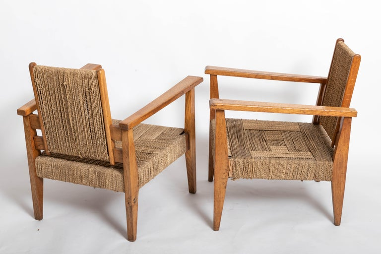 Pair of French 1950s Chairs For Sale 1