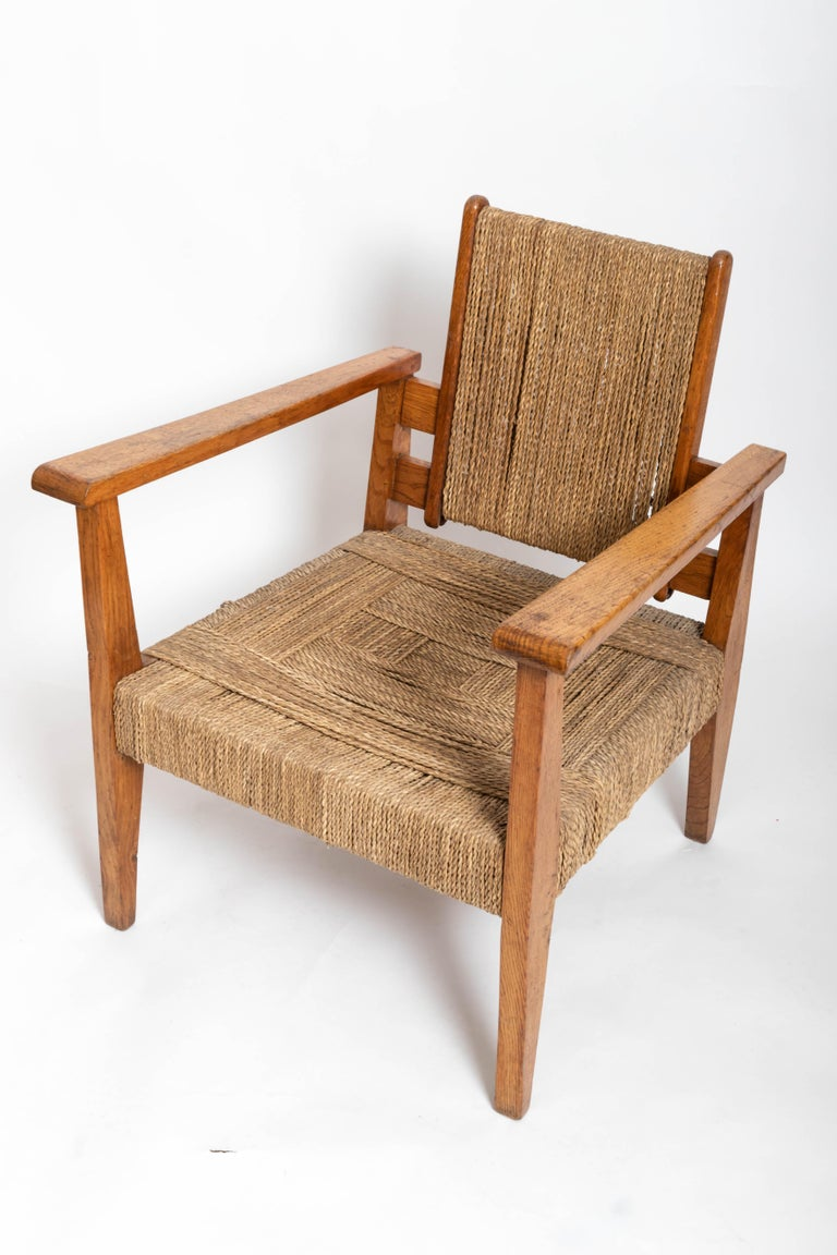 Pair of French 1950s Chairs For Sale 3