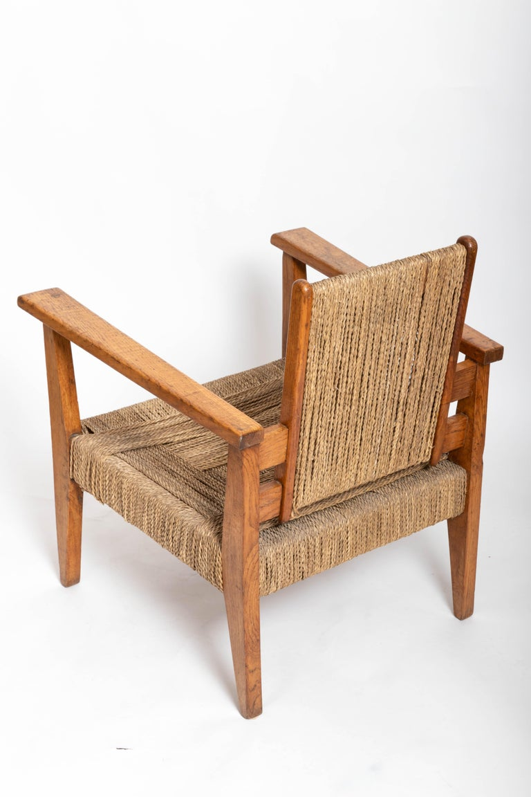 Pair of French 1950s Chairs For Sale 5