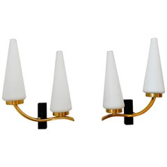 Pair of French 1950s Lunel Wall Lights