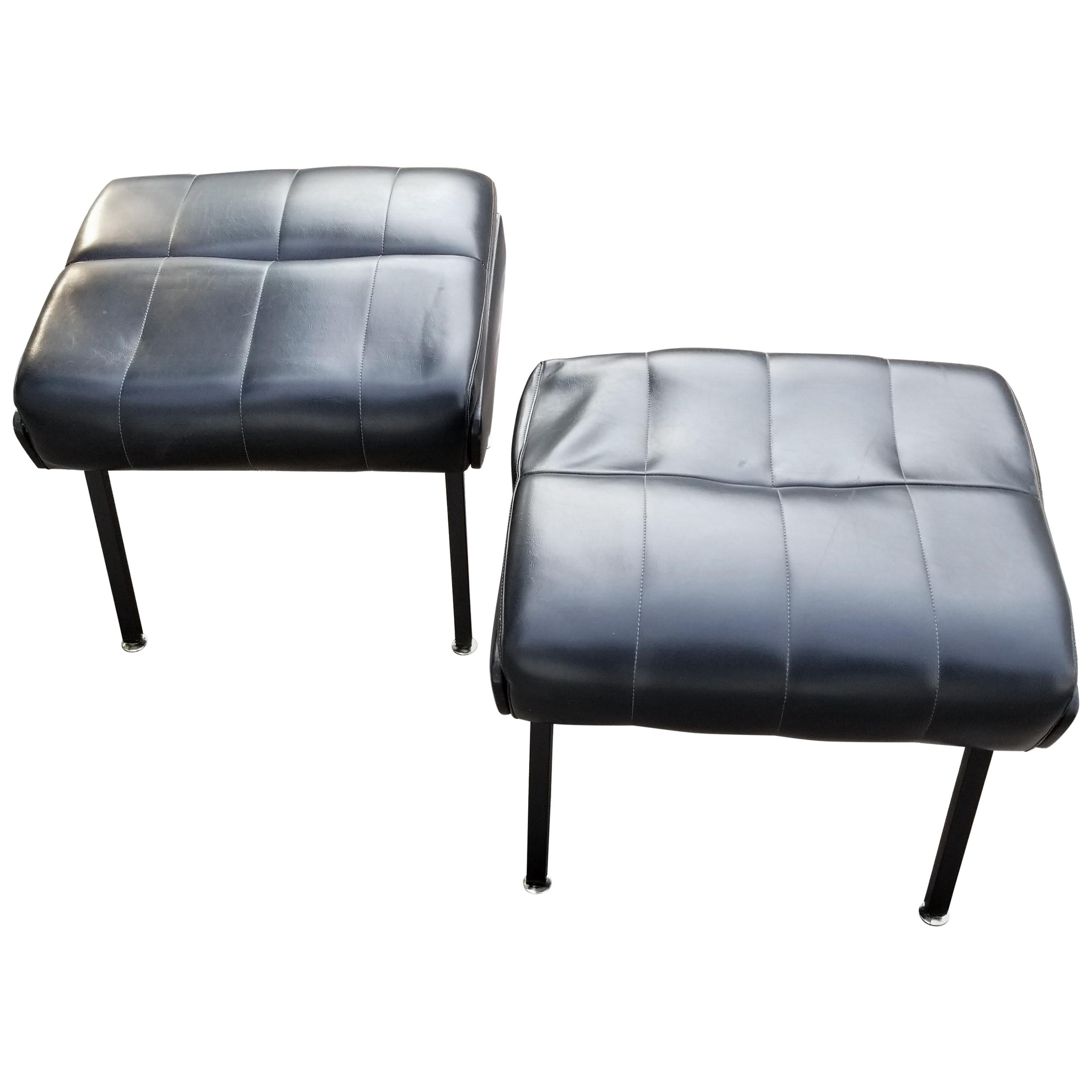 Pair of French 1950s Ottoman