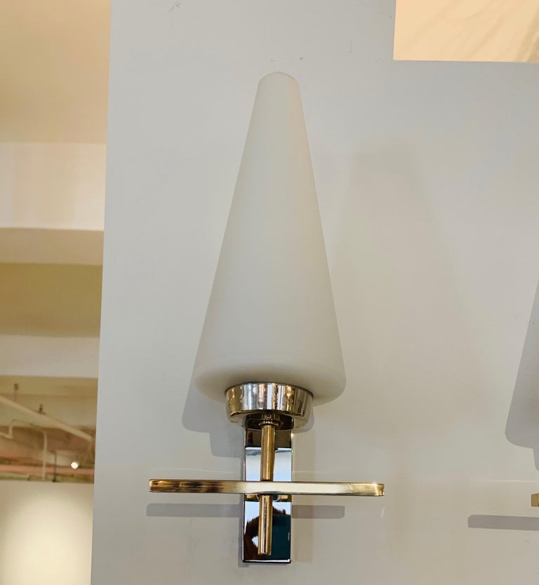 Pair of French 1970s Lunel Wall Lights For Sale 4