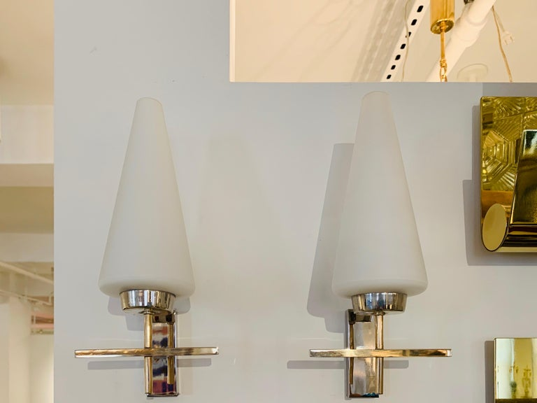 Pair of French 1970s Lunel Wall Lights For Sale 11