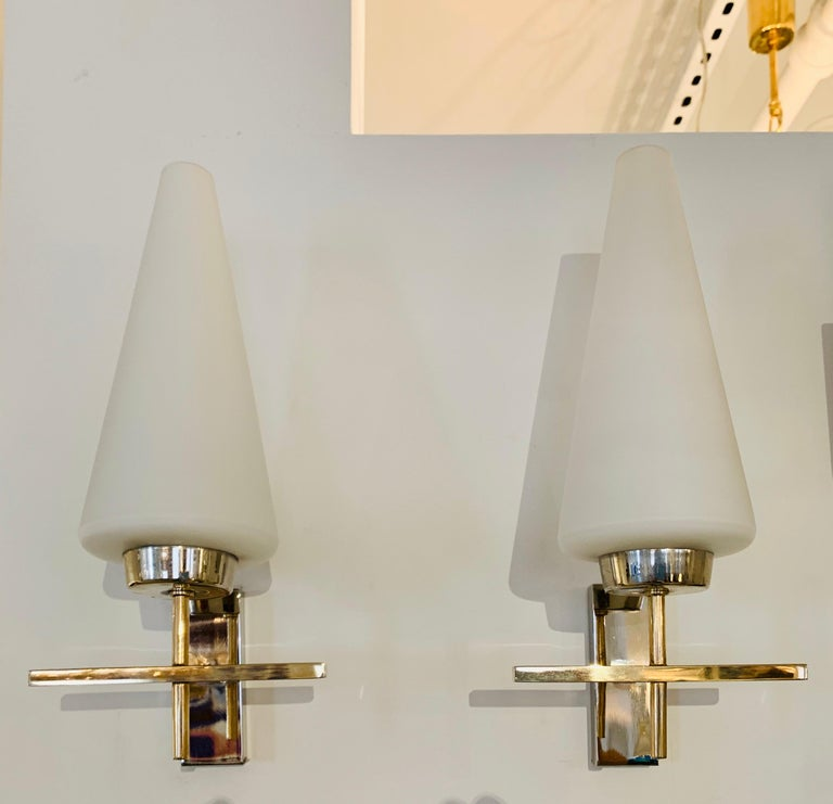 Pair of French 1970s Lunel Wall Lights For Sale 13