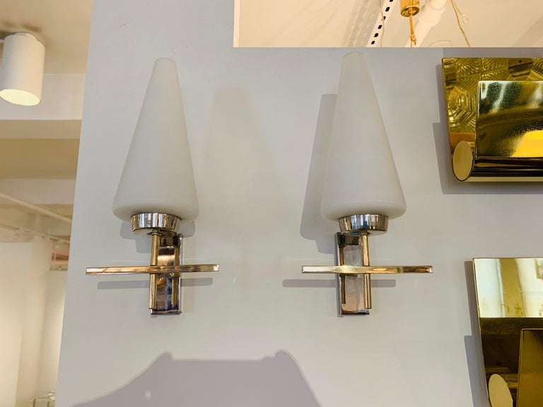 Pair of French 1970s Lunel Wall Lights For Sale 14