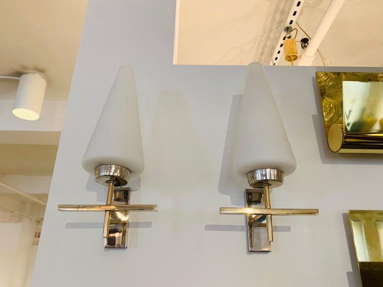 Pair of French 1970s Lunel Wall Lights For Sale 2