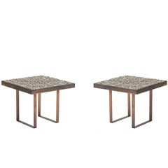 Pair of French (1980s) Post-War Design End / Side Tables