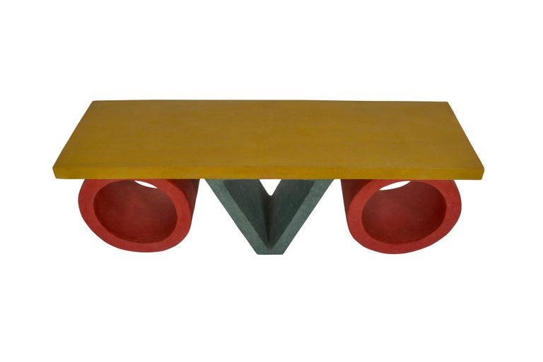 Post-Modern Pair of French 1980s Resin Coffee Tables For Sale