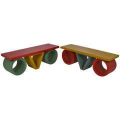Pair of French 1980s Resin Coffee Tables