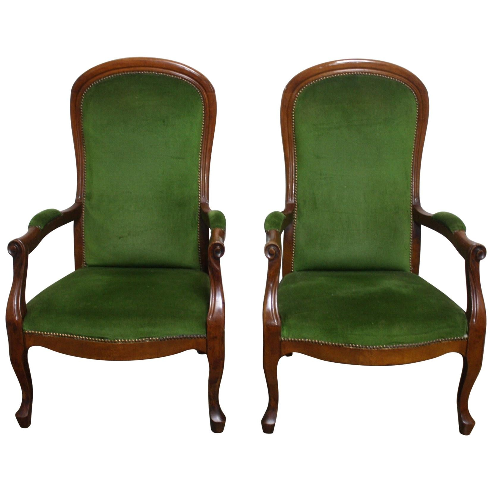 Pair of French 19th Century Armchairs