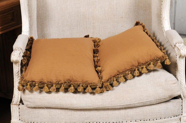 Pair of French 19th Century Aubusson Woven Tapestry Pillow with Floral Décor For Sale 7