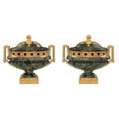 Pair of French 19th Century Belle Époque Period Urns Attributed to H. Dasson