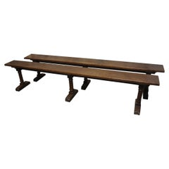Pair of French 19th Century Benches