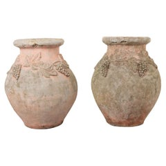 Pair of French 19th Century Cast Stone Pots