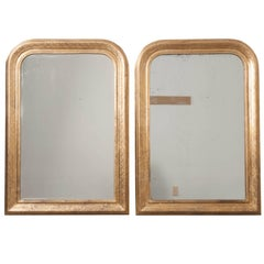 Pair of French 19th Century Gold Gilt Louis Philippe Mirrors