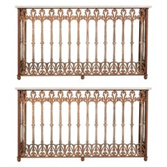 Pair of French 19th Century Iron Consoles