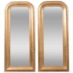 Pair of French 19th Century Louis Philippe Gold Gilt Mirrors