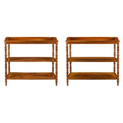 Pair of French 19th Century Louis Philippe St. Walnut Étagères