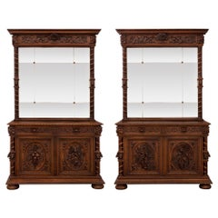 Pair of French 19th Century Louis XIII Style Buffets